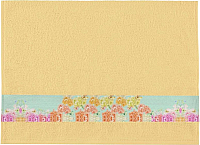 Полотенце Aquarelle Фотобордюр Цветы-3 70x140 (желтый) -