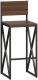 Стул барный Loftyhome Бервин 2 / BR060301 (коричневый) -