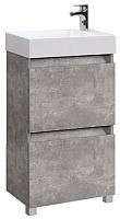 Тумба под умывальник Belux Темпо Н 50-01 (31, бетон чикаго/светло-серый) -