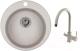 Мойка кухонная Granula GR-4801 + смеситель GR-3509L (базальт) -