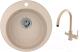 Мойка кухонная Granula GR-4801 + смеситель GR-3509L (песок) -