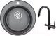 Мойка кухонная Granula GR-4801 + смеситель GR-3509L (шварц) -