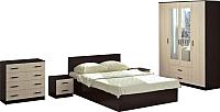 Комплект мебели для спальни Аметиста Ронда 1 (венге/беленый дуб) -