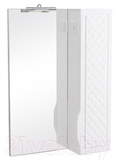 Купить Шкаф с зеркалом для ванной Аква Родос, Родорс 55 R (с подсветкой Omega), Украина