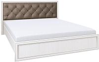 Двуспальная кровать Олмеко Габриэлла 06.15 с основанием (вудлайн кремовый/лиственница св.) -