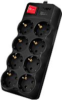 Сетевой фильтр Sven SF-08-16 (1.8м, черный) -