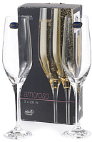 Набор бокалов для шампанского Bohemia Crystal Amoroso 40651/200-2 (2шт) -