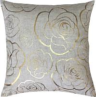 Подушка декоративная MATEX Luxury Розочки / 17-516 (золото/светло-серый) -