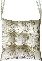 Подушка на стул MATEX Luxury Ромбы В Обоях / 17-585 (золото/светло-серый) -
