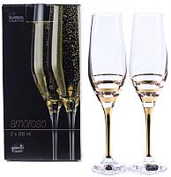 Набор бокалов для шампанского Bohemia Crystal Amoroso 40651/M8431/200 (2шт) -