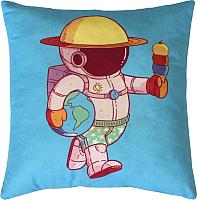 Подушка декоративная MATEX Freak Космонавт / 16-304 (голубой/светло-розовый) -