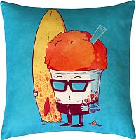 Подушка декоративная MATEX Freak Серфингист / 16-380 (бирюзовый/оранжевый) -