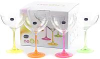 Набор бокалов для мартини Bohemia Crystal Neon 40751/D4892/340 (4шт) -