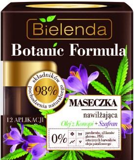 Купить Маска для лица кремовая Bielenda, Botanic Formula увлажняющая масло конопли+шафран (50мл), Польша, Botanic Formula (Bielenda)