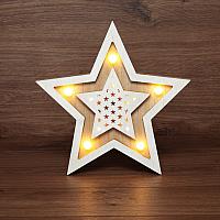 Световая фигурка Neon-Night Звезда двойная 504-027 -