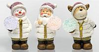 Набор световых фигурок Neon-Night Дед Мороз, Снеговик и Олененок 505-003 -