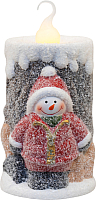 Световая фигурка Neon-Night Свечка со снеговиком 505-016 -