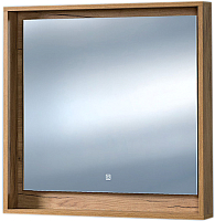 Зеркало Акваль Ирис 85 / ИРИС.04.85.00.N (с полкой) -
