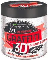 Гель для укладки волос Bielenda Graffiti 3D очень сильной фиксации с черной репой (250мл) -
