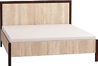Каркас кровати Глазов Bauhaus 3 140x200 (дуб сонома/орех шоколадный) -