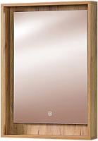 Зеркало Акваль Ирис 60 / ИРИС.04.60.00.N (с полкой) -