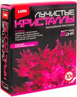 Набор для выращивания кристаллов Lori Лучистые кристаллы / Лк-008 (малиновый) -