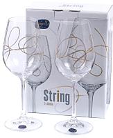 Набор бокалов для вина Bohemia Crystal String 40729/QH013/350-2 (2шт) -