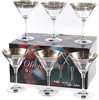 Набор бокалов для мартини Bohemia Crystal Olivia 40346/43249/210 (6шт) -