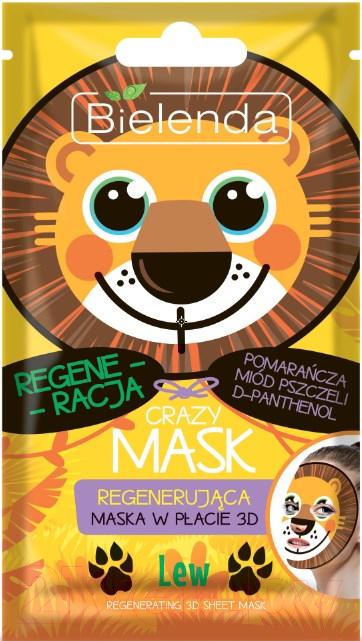 Купить Маска для лица тканевая Bielenda, Crazy Mask Лев восстанавливающая, Польша, Crazy Mask (Bielenda)