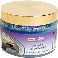Скраб для тела Mon Platin Ароматический с экстрактом лаванды ванили и пачули (330мл) -