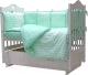 Комплект в кроватку Топотушки 12 месяцев / 661/7 (бирюзовый) -
