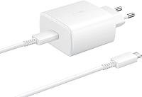 Зарядное устройство сетевое Samsung USB Type-C Power Delivery 45B / EP-TA845XBEGRU (белый) -