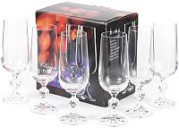 Набор бокалов для шампанского Bohemia Crystal Claudia 40149/180 (6шт) -