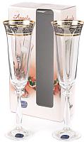Набор бокалов для шампанского Bohemia Crystal Angela 40600/43249/190-2 (2шт) -