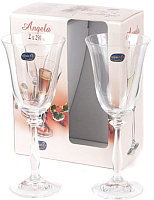 Набор бокалов для вина Bohemia Crystal Angela 40600/250-2 (2шт) -