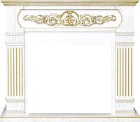 Портал для камина Смолком San Marino SYM 26/MB/JUP (белый дуб/патина золото) -