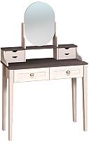 Туалетный столик с зеркалом Глазов Бриз 43 (бодега светлый) -