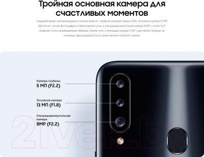 Смартфон Samsung Galaxy A20s (2019) / SM-A207FZBDSER (синий)