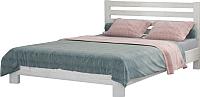 Двуспальная кровать Bravo Мебель Вероника 160x200 (дуб белый) -