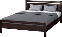 Двуспальная кровать Bravo Мебель Вероника 1 160x200 (орех темный) -