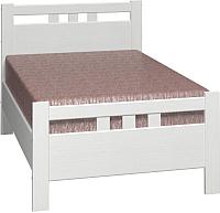 Односпальная кровать Bravo Мебель Вероника 2 90x200 (дуб белый) -