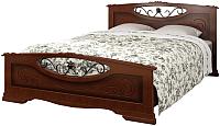 Двуспальная кровать Bravo Мебель Елена 5 160x200 (орех) -