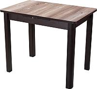 Обеденный стол Домотека Джаз ПР-М 60x88-125 (дуб темный/венге/04) -