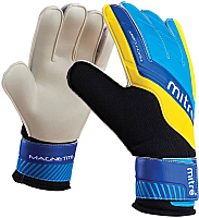 Перчатки вратарские Mitre Magnetite JNR / G70009BCY (р-р 5, белый/голубой/желтый) -