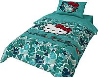 Комплект постельного белья Нордтекс Hello Kitty HK 1558 20026+8370/3 -