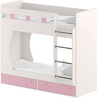 Двухъярусная кровать Славянская столица Д-КрД (белый/розовый) -