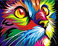Картина по номерам Picasso Радужный кот (PC4050344) -