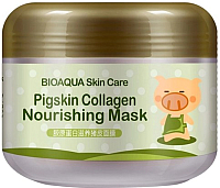 Маска для лица гелевая Bioaqua Pigskin Collagen питательная коллагеновая (100г) -