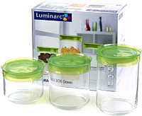 Набор емкостей для хранения Luminarc Storing Box Green SD328 -