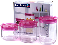 Набор емкостей для хранения Luminarc Storing Box Pink SD326 -